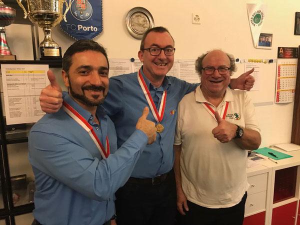 vlnr: Nebi (Bronze), Gregi (Gold), Heinz (Silber)