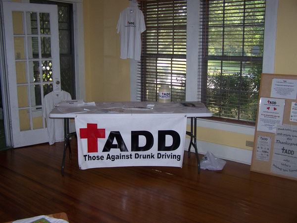 TADD station set up at the English Tea Party