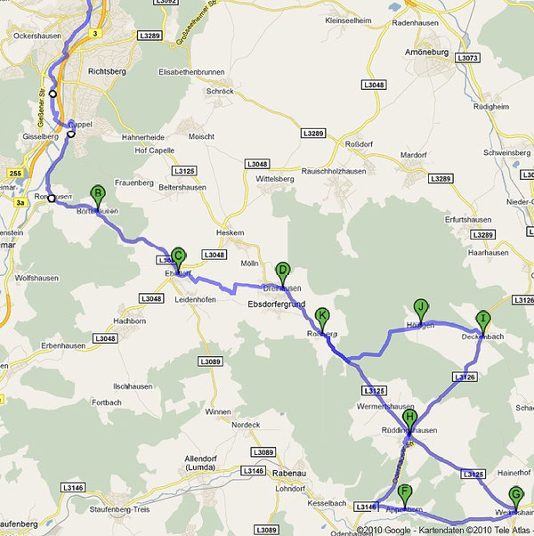 Ebsdorfrunde ca. 46 km