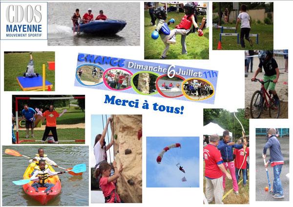 Remerciement du CDOS de La Mayenne