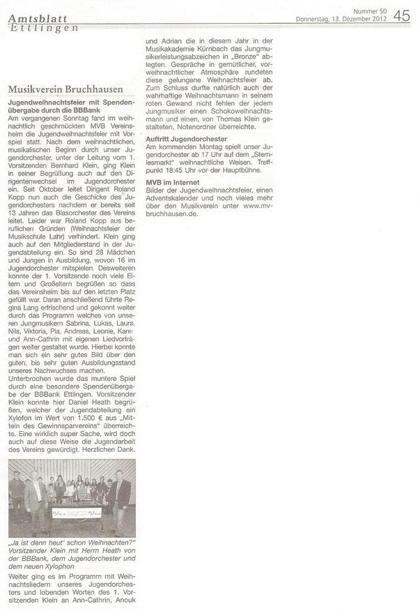 Amtsblatt Bericht 13.12.2012