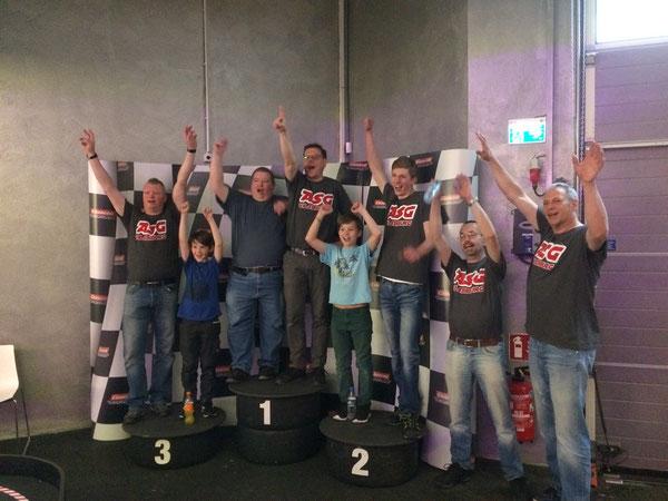 Siegerehrung vom Großen Preis der ASG in Oberasbach.