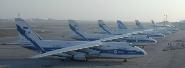 Lining up for getting second life – An-124 at Leipzig Airport / source: LEJ Airport