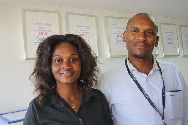 Anna Tine and Seydi Ousmane of Brussels Cargo's DKR station  /  source: hs