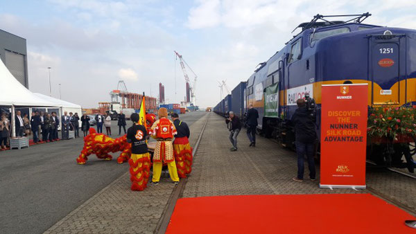 The freight train was given an emotional farewell at Amsterdam's Container Terminal (ACT)