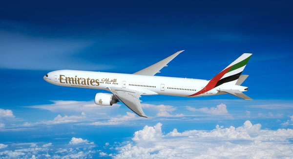 Emirates will operate a Triple Seven passenger jet on the on the Dubai-Brussels roundtrips  /  source: EK