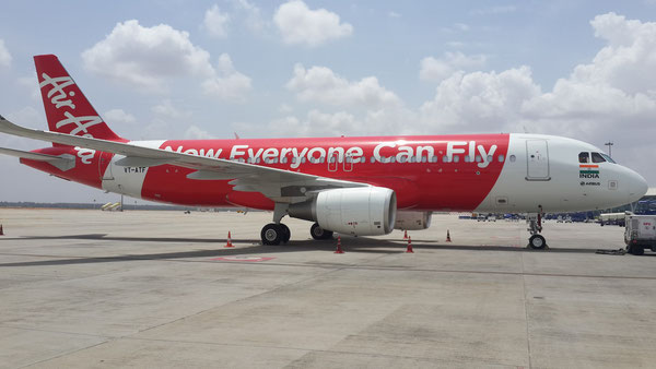 The A320 passenger aircraft of Bangalore-based AirAsia India can uplift nearly 2.5 tons of cargo each flight  /  source: ECS