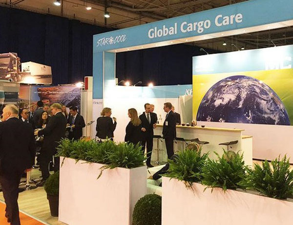 GFS, WSC, ICHCA and TT Club reps stuck their heads together at the Amsterdam-held Intermodal Europe to jointly focus on cargo integrity  -  picture: Intermodal Europe