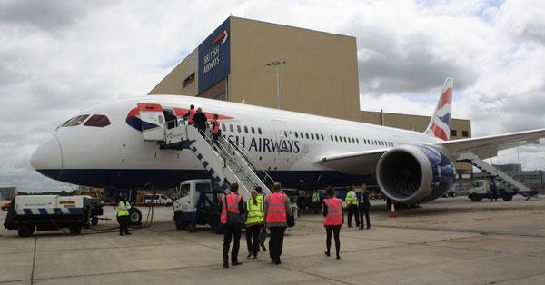 Serving BA's Austin route - 787 'Dreamliner'  /  source: hs