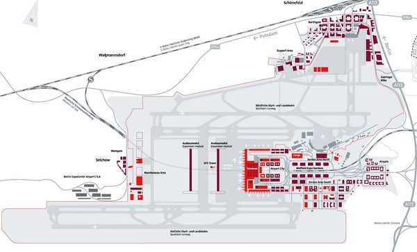 Neat on the drawing board, disastrous in reality – Berlin Brandenburg International  /  source: Berlin Airports