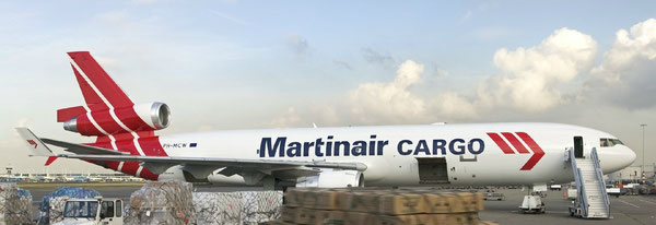 Will soon be phased out – one of Martinair Cargo's five MD-11Fs  /  source: MP