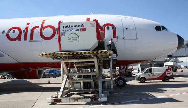Bellyhold freight on passenger services is Dusseldorf Airport Cargo's bread and butter biz  /  source: hs