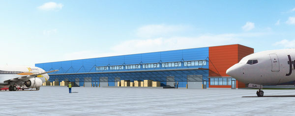Source: Hamilton Airport; Animation of new cargo facility at Ontario's Hamilton Airport