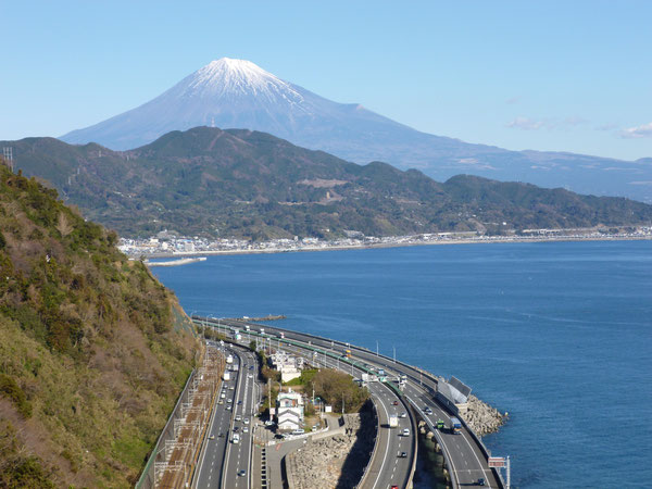 さった峠から見た富士山