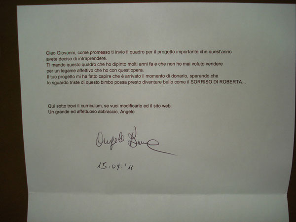 lettera di Angelo Bernava