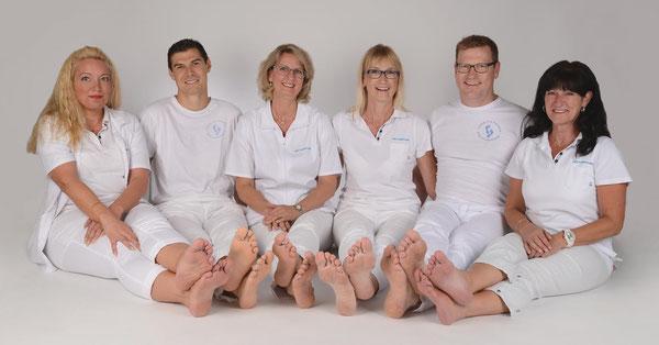 Unser Team v.l.n.r.; Marion, Steffen, Ines, Angelika, Henrik und Kirsten.
