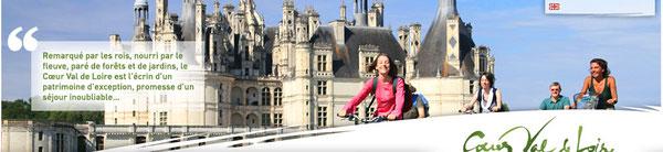Ballade à vélo au château de Chambord.