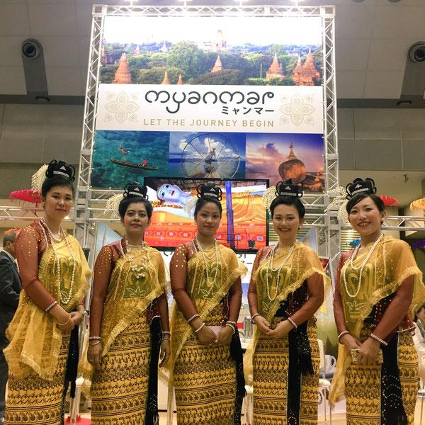 ミャンマーホテル観光省のブースにて