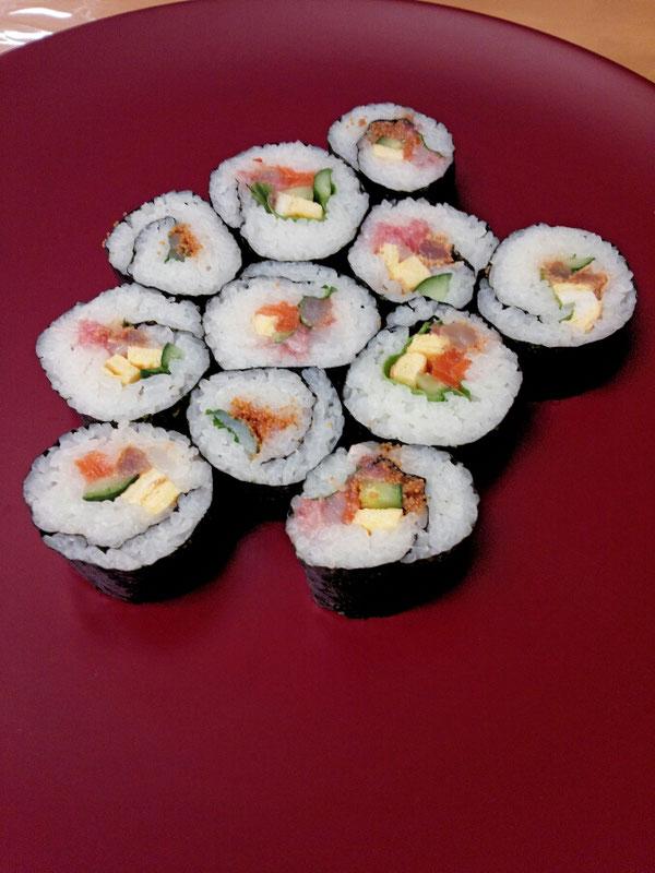 甘えびのお寿司とふぐの子のお寿司