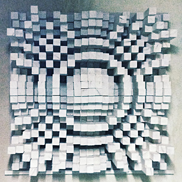 Panneau diffuseur réalisé par B. Mallaroni pour le groupe DELUXE