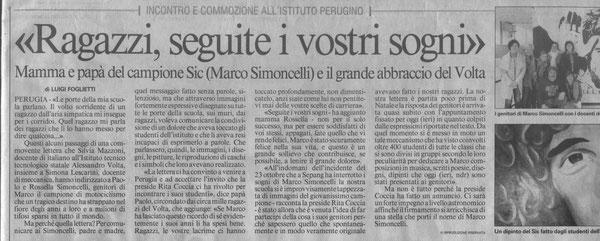"""Da """"Il Messaggero"""" del 9/3/12"""