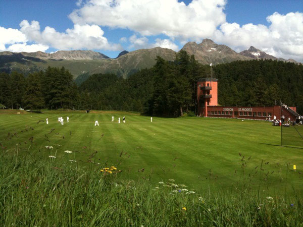 Inaugural Cresta Charity Cricket Match in St. Moritz (15.7.2012)