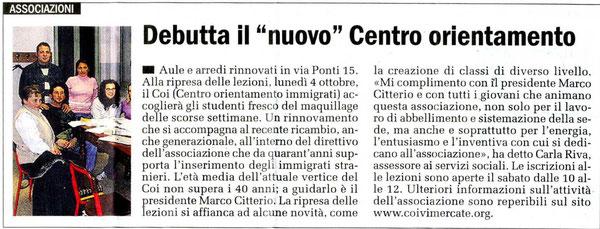 """da """"Il CIttadino"""" , 02/10/2010"""