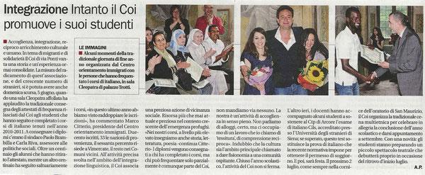 """da """"Il Cittadino"""" del 11 giugno 2011 - Cliccare sull'immagine per ingrandirla."""