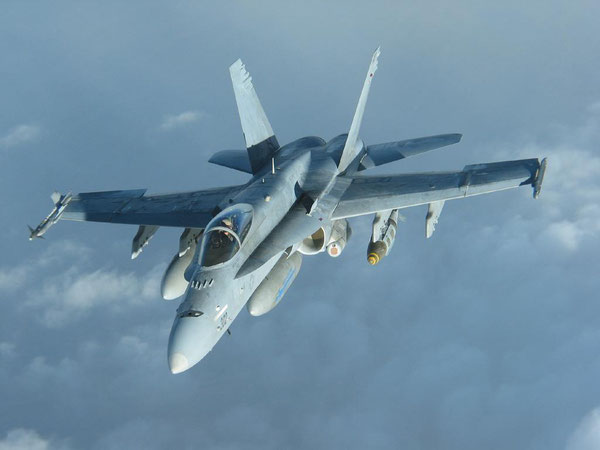 "Un F/A-18 Hornet ""Legacy"" (Foto: US Navy)"