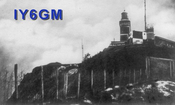 Il faro ed il semaforo di Monte Cappuccini ad Ancona in una foto dei primi del '900
