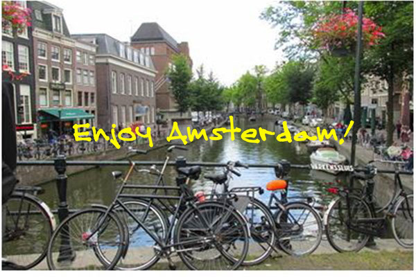 """Canals """"grachten"""" and bicycles - you have arrived at Amsterdam"""