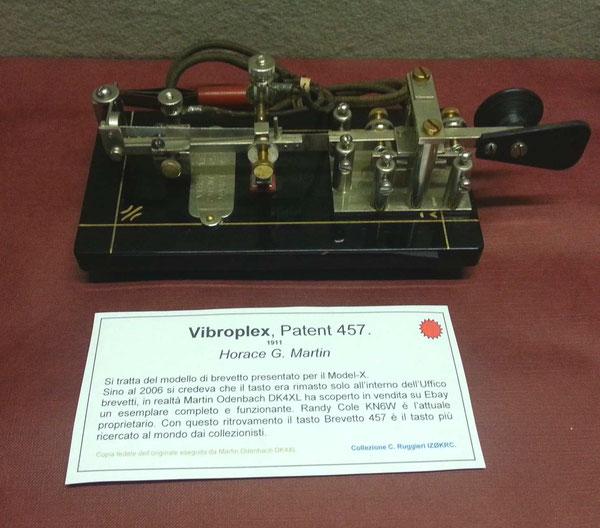 Vibroplex PATENT - 457 repro.  1911