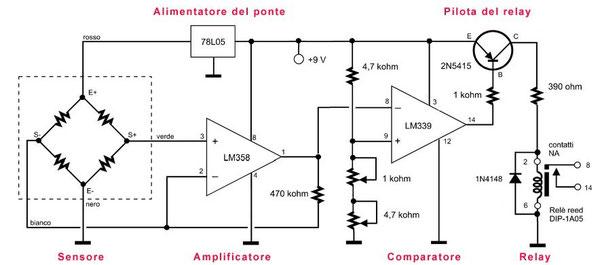 Figura 6 - Schema elettrico del tasto verticale