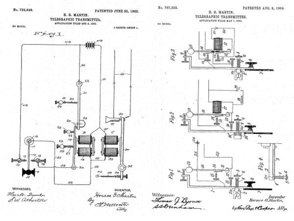Figure 1 e 2 Brevetti depositati per l'Autoplex 732648-1903  e 767302-1904.