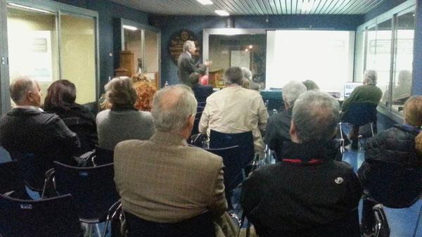 L'Ing. Cosmo Colavito durante il suo intervento sulla Telegrafia elettrica