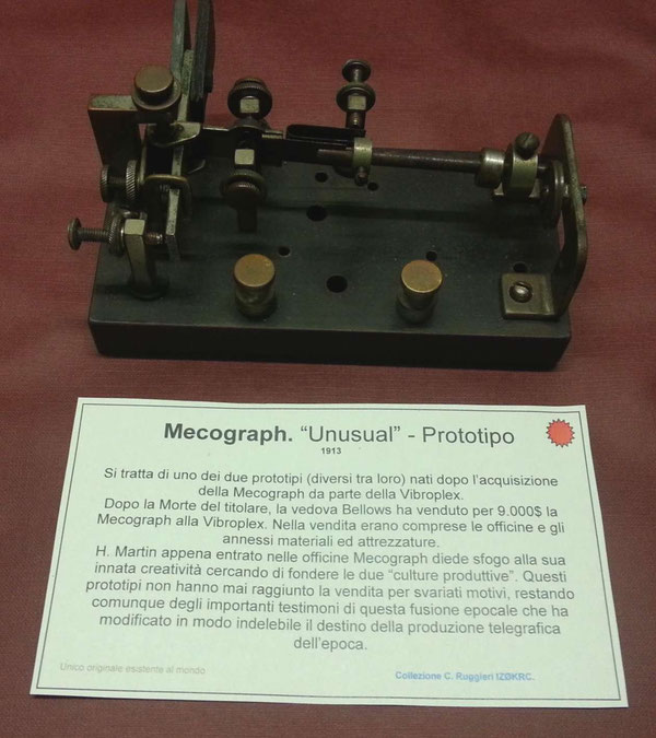 One prototype made from Horace Martin into the Mecograph workshop 1913.