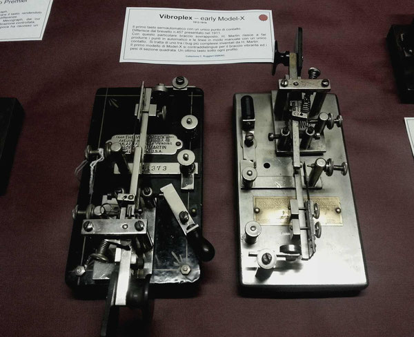 Two Early Model X. Japaned and DeLuxe (nichel finshed), made by Vibroplex.  1912