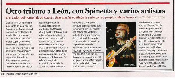 Agosto 2009, Rolling Stone