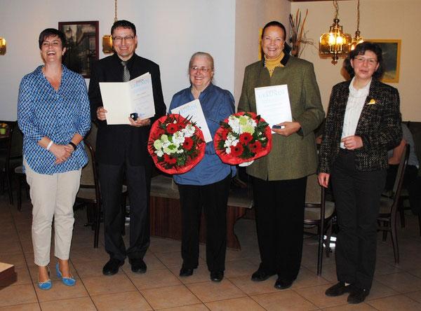 Ehrungen: v.l.: Gabriele Betz, Norbert Maier, Annemarie Steinle, Rosely Schweizer, Sibylle Strobel  (Foto: Heike Schmid)