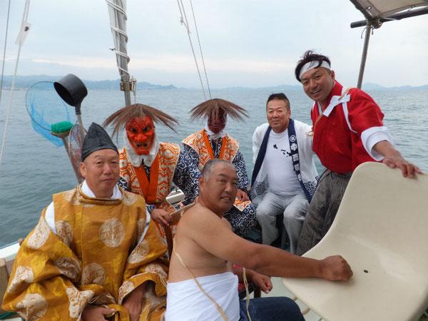 「御神璽流漂伝説の謎」TV撮影から(平成24年10月6日鹿島海上)
