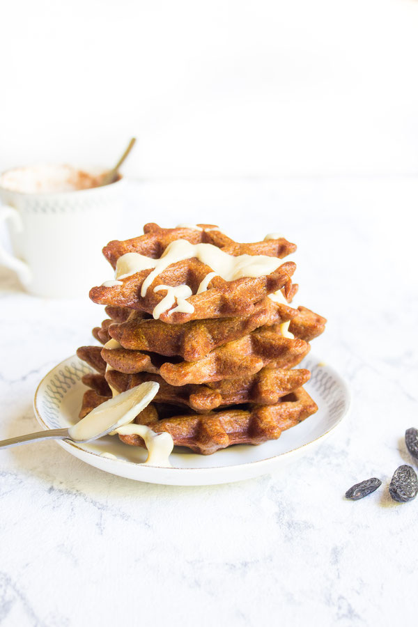 Sugar free and gluten free vegan waffles
