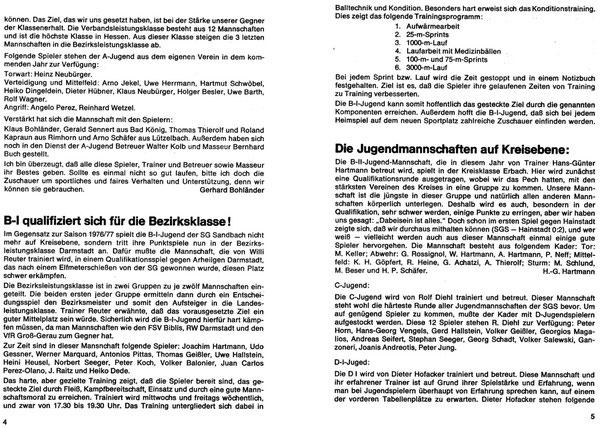 SG SANDBACH  Zeitung SPIELJAHR 1977-78 -03