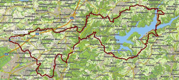 54 Km  Rundwanderweg von Lützenkirchen nach Lützenkirchen