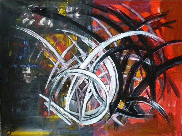 Reflexionen, 80x60cm, Acryl auf Leinwand im Keilrahmen.
