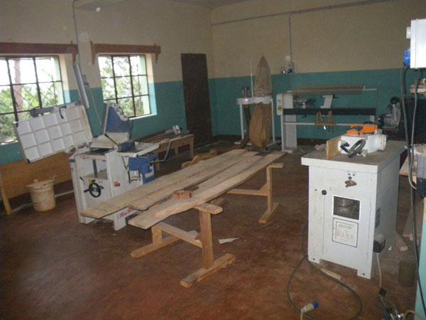 Una parte del Laboratorio di Falegnameria.