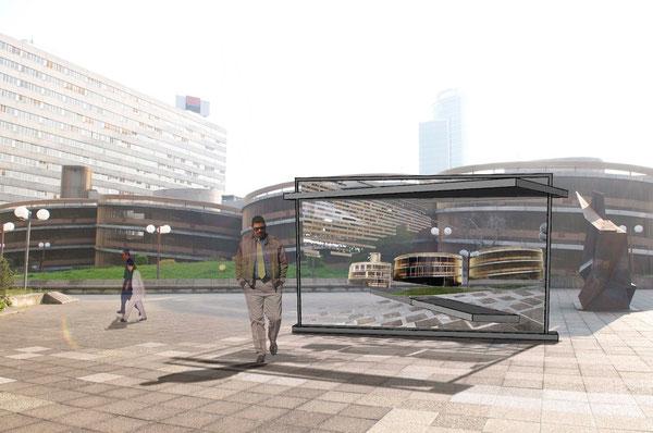 """Photomontage du projet : Esplanade du """"Crayon"""" de Part Dieu"""