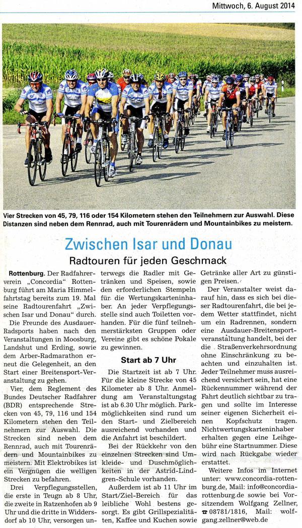 Quelle: Landshut aktuell v. 06.08.2014