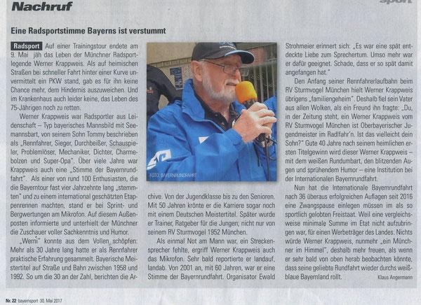 Quelle: Bayernsport Nr. 22 vom 30.05.2017