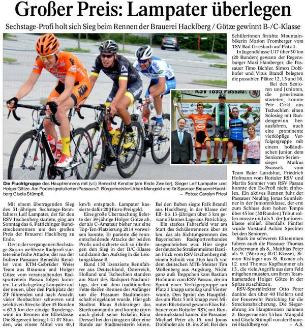 Quelle: Passauer Neue Presse 16.07.2014