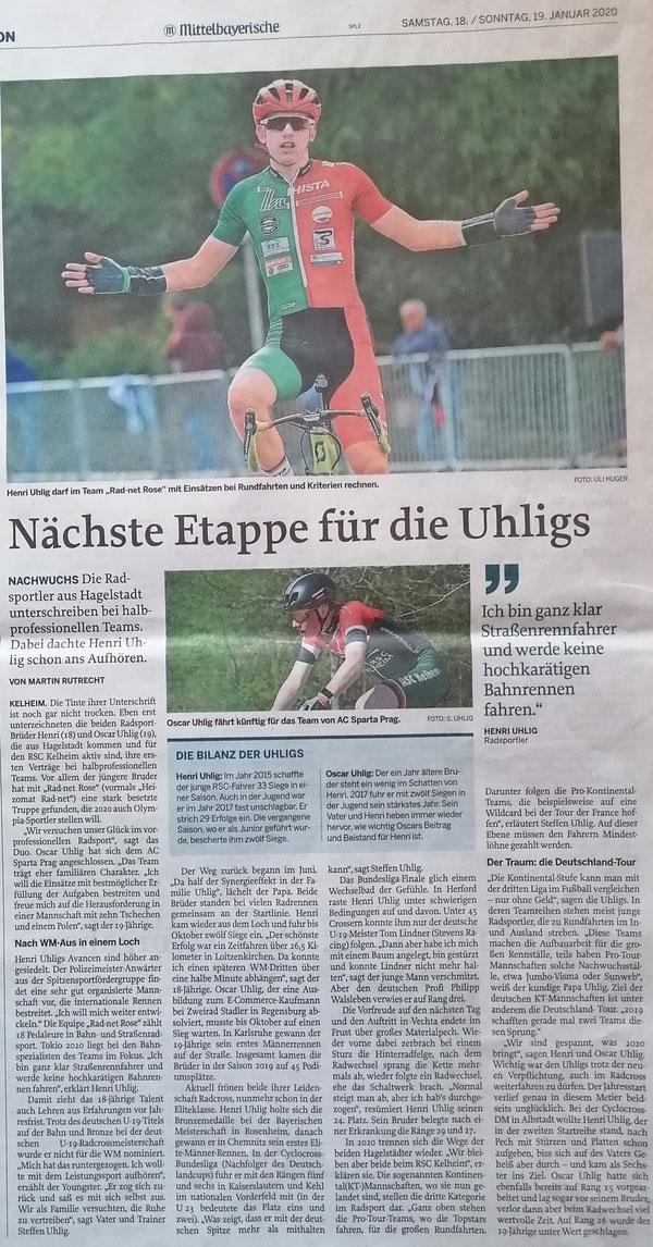 Quelle: Mittelbayerische Zeitung 18.01.2020